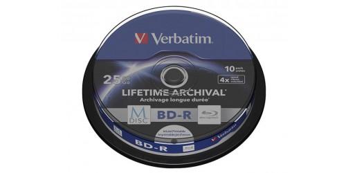 VERBATIM BD-R 25GB 4x (10) CB