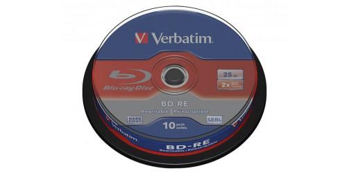 VERBATIM BD-RE 25GB RW 2x (10) CB