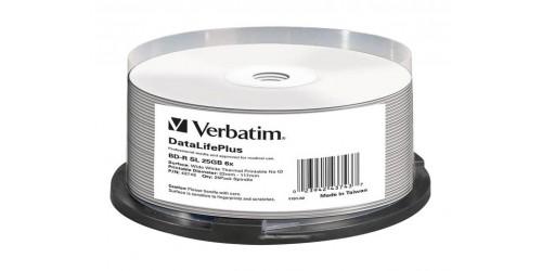 VERBATIM BD-R 25GB 6x (25) CB WHITE