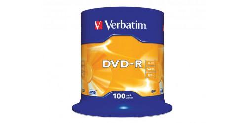 VERBATIM DVD-R 4.7GB 16x (100) CB