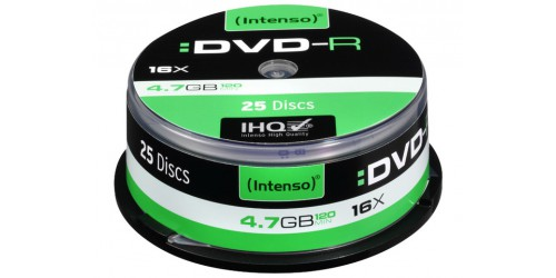 INTENSO DVD-R 4.7GB 16x (25) CB