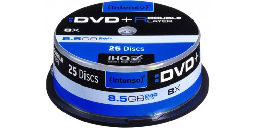 INTENSO DVD+R 8.5GB 4x (25) CB