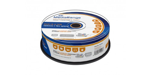 MEDIARANGE DVD+R 4.7GB 16x (25) CB WHITE