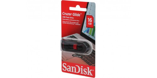 SANDISK CRUZER GLIDE USB DRIVE 16GB