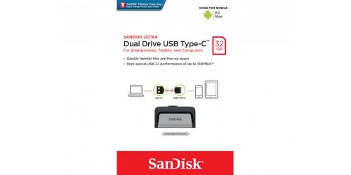 SANDISK ULTRA DUAL TYPE-C USB STICK 32GB