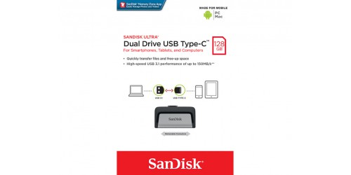 SANDISK ULTRA DUAL TYP-C USB STICK 128GB