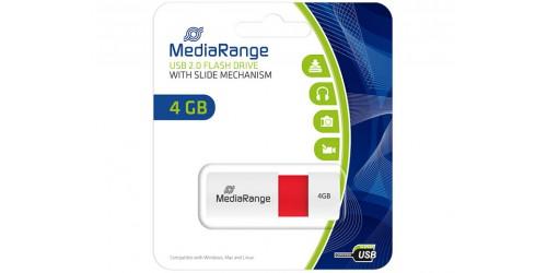 MEDIARANGE USB FLASH DRIVE 4GB RED