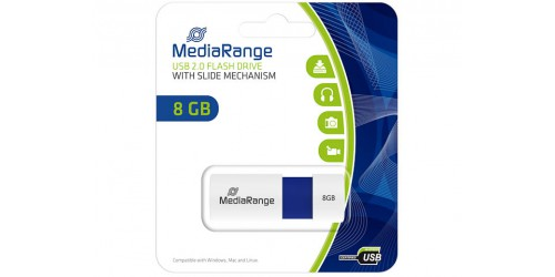 MEDIARANGE USB FLASHDRIVE 8GB BLUE