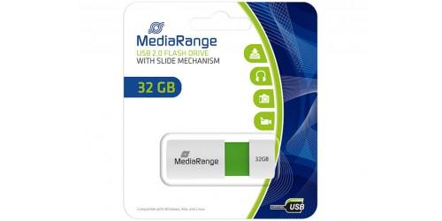 MEDIARANGE USB FLASH DRIVE 32GB GREEN