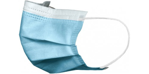 Promopack 50 mondmaskers 3-laags + handgel 75 % 500 ml met pomp
