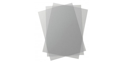 Transparant blad pvc 200 µ A3