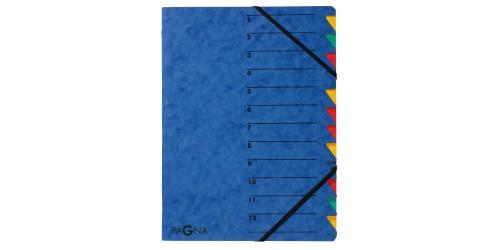 Combinatiemap 12 vaks blauw