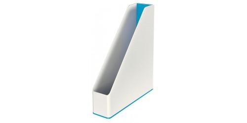 Tijdschriftcas Leitz Wow blauw/wit