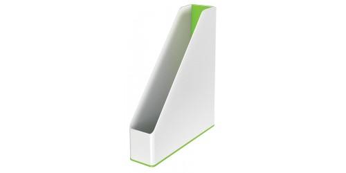 Tijdschriftcas Leitz Wow groen/wit