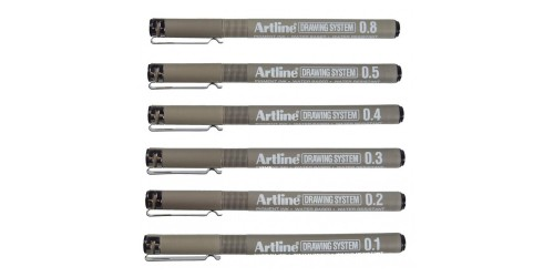 Artline Drawing system black 0,2