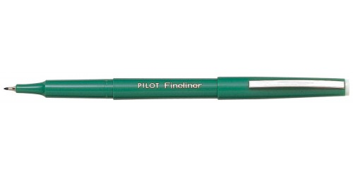 Pilot Fineliner groen 0,4 mm