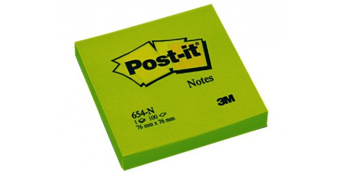Post-it Neon 76x76 mm groen 654-N