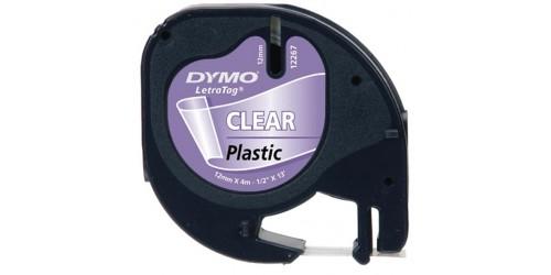 Tape Dymo Letratag Plastclear 12267