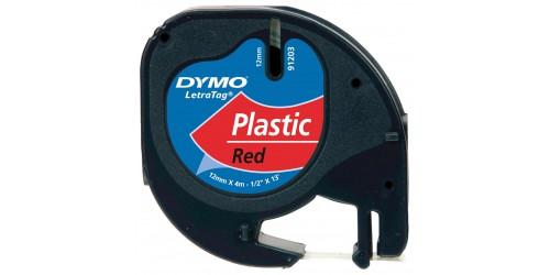 Tape Dymo LetraTag plast.rood91203