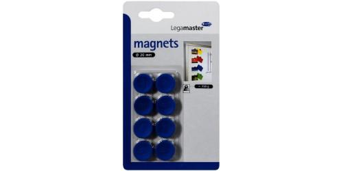 Magneet diam. 20 mm blauw