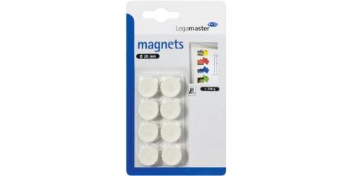 Magneet diam. 20 mm wit