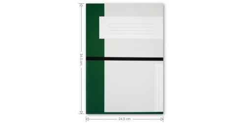 KB Dossiermap met elastiek cap 63 mm Donkergroen