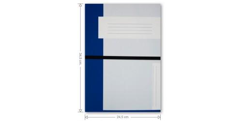 KB Dossiermap met elastiek cap 63 mm Donkerblauw