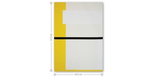 KB Dossiermap met elastiek cap 63 mm Geel