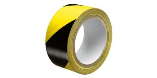 Markeringstape geel/zwart 50mm x 66 m eco