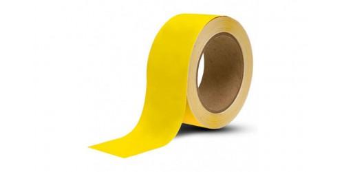 Markeringstape geel Pvc 50 mm x 66 m eco