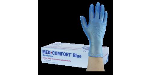 Wegwerphandschoenen Med Comfort Blue maat M