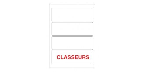 Etiket Laser Classeur 62x192 L7701