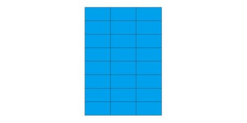 Avery Laser+Copy 37x70 blauw 3449