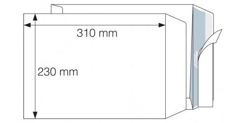 Akte-envelop 230x310 wit, strip