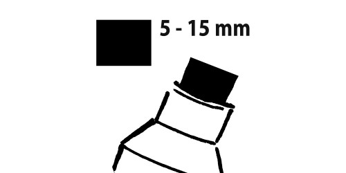 Sigel Krijtmarker blauw 5-15mm afw