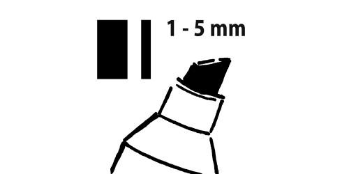Sigel Krijtmarker zwart 1-5mm afwa