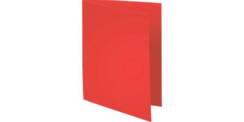 Vouwmap A4 170 gr met zichtrand rood