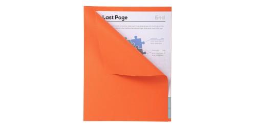 Vouwmap A4 170 gr met zichtrand oranje