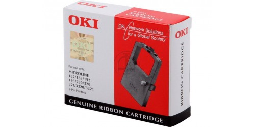 09002303 OKI ML182 NYLON RIBBON BLACK