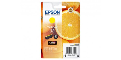 C13T33444012 EPSON XP530 INK YELLOW ST
