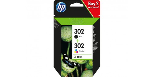 X4D37AE HP OJ3730  INK (2) BLK+COL